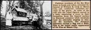 Winona County Historical Society, Winona MN. Coll. photo. Mason City delegation to a KKK Convention held in Winona, MN in 1925 or 26.